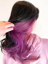 ヘアーヴィーヴル 鴨島店(Hair BIVRE)コットンキャンディピンク × インナーカラー by shiho