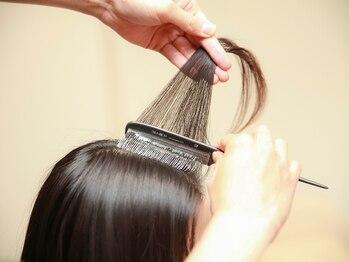 """クシェルヘア(kuschel hair)の写真/【北山】""""ゼロタッチカラー""""と白髪染めの薬を使わない施術で、よりナチュラルで透明感のある仕上がりに◎"""