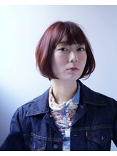 ベル (hair design Belu)【赤羽美容室Belu】pink violet ショートボブ