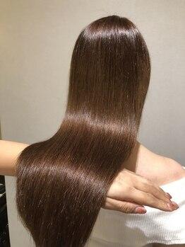 スリーランド(THREELAND)の写真/【感動の艶髪】カット+カラー+資生堂サブリミック髪質改善TR¥17900☆これまでのダメージがなかったことに