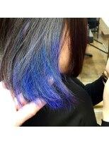 コレット ヘアー 大通(Colette hair)インナーカラー×ブルー