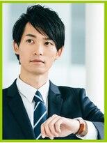 メンズ髪質改善前髪縮毛矯正・ビジネスマン・トップに立ち上がり