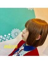 ミッカ(micca)【micca 下北沢】切りっぱなしボブ×アプリコットオレンジ