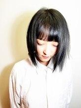 ヘアアンドスパ ケー(Hair&spa K)グレージュストレートヘアー
