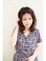 ユートラクト(U-tract)【U-tract】ゆるふわウェーブ大人可愛い☆パールグレー