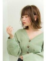 ミンクス 原宿店(MINX)【2020 春夏】須永健次 毛先パーマのフワハネボブディ