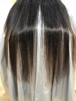 ヴォルテックス ヘアー ドレッシング(vortex hair dressing)の写真/見た瞬間、思わず触れたくなる艶髪に…≪Aujua≫で1人1人の髪質に合わせて本来の美しさを引出します◎