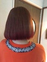 ヘアーメイク プリュム(Hair make Plume)サーモンピンク×毛先濃厚ピンク