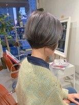 コンビネーション(combination)ミセスショートボブ  骨格補正カット  白髪染め対応