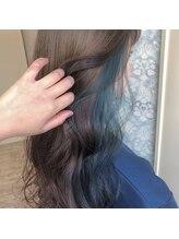 ヘア クレール(hair CREER)インナーカラー*サファイアブルー