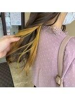ヘアー コパイン(HAIR COPAIN)ひまわり黄色のインナーカラー[熊本/中央区/上通り/並木坂]