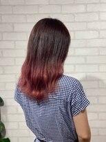 ビス ヘア アンド ビューティー 西新井店(Vis Hair&Beauty)グラデーション/ブリーチ/レッド/セミロング