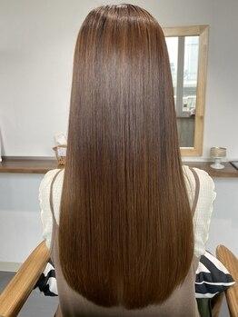 シュクルヘアー(Sucre Hair)の写真/髪質改善、ダメージレス縮毛矯正、カスタマイズトリートメントで毛先までまとまる内側から輝く艶髪へ♪