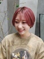 テトヘアー(teto hair)ピンク 韓国ヘア 韓国スタイル ピンクベージュ ピラミンゴ