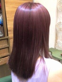ヘアコプター(HAIR COPTER)の写真/【ダメージレスな透明感Wカラー】ファイバープレックスカラーで毛髪内部を保護、強化しダメージを軽減!