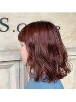 ヘアーエスクールフェイス(hair S. COEUR face)赤みカラー