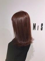 フレイムスヘアデザイン(FRAMES hair design)ボルドー風コーラルピンク