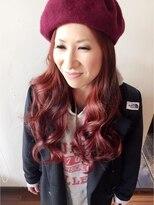 可愛い赤髪