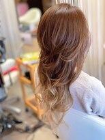 ヘアーメイク リボーン ムーヴ(hair make re:bbon move)グラデーションカラー×スモーキートパーズ