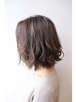 """wealstar hair design""天王寺 透明感グレーアッシュ"