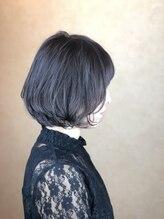ヘアメイク ロココ(Hair Make Rococo)大人ボブ 伸ばしかけボブ × パープルガーネット