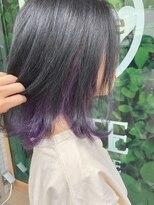 ドォート(Dote hair make)☆インナーカラー デザインカラー パープル ☆ 林 大樹
