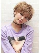 《Agu hair》小顔かわいいハイトーンマニッシュショート