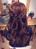 ヘアセットサロン アトリエ チャイ(Hair set salon atelier CHAI)くるくる&編み込みハーフアップ