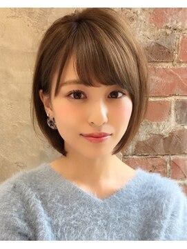 アフロート ルヴア 新宿(AFLOAT RUVUA)●大人かわいい 小顔ナチュラルショートボブ30代40代50代新宿