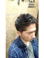 バルビエ グラン 銀座(barbier GRAND)LDH系男子2ブロパーマスタイル <理容室>
