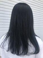 ケーオーエス(KOS beauty hair, nail & eyelash)ダークネイビー×ハイライト