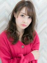 【ROMA】大人かわいい巻き髪風デジタルパーマ小顔セミロング