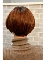 ヘアーメイク プリュム(Hair make Plume)丸みのあるショートボブ×ショコラブラウン