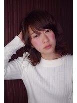 ヌードカラー 太田川店(NUDE COLOR)☆NUDE COLOR☆スポンテニアス フリンジバング 小顔ウェーブ