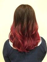 髪の美院 シャルマン ビューティー クリニック(Charmant Beauty Clinic)赤グラデェーション