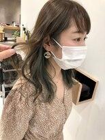 ラノバイヘアー(Lano by HAIR)【lano by hair 銀座】オリーブべージュインナーカラー