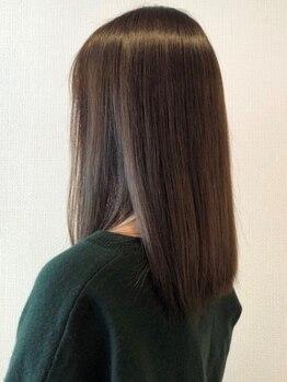 """ヘアー プティ(hair puti)の写真/透明感とツヤをプラスし肌色もキレイに♪""""頭皮と髪に優しく""""を第一に考えた〔プレミアムカラー〕が新導入☆"""