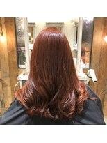 ヘアーエスクール 本店(hair S.COEUR)韓国アイドル風ブラッドオレンジ☆