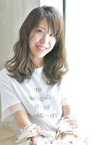 ヘアアンドメイク アリス(hair&make ALICE produce by COLT)セミロング×グレージュ×うざバング