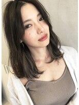 ☆ 毛束感 × グレージュ インナーカラー × midium ☆