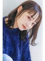 ネイヴィル(navile)☆シアーブランジュロブシースルーカラー×レトロボブ☆【大河