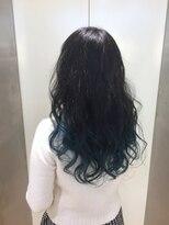 ヘアサロン ドット トウキョウ カラー 町田店(hair salon dot. tokyo color)【sky blue】ブリーチグラデーションカラーリスト田中【町田】
