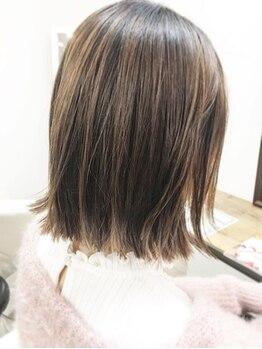 美容室ベランダ(VERANDA)の写真/【月が丘/幅広い世代から大好評*】髪にやさしいストレートで今までのお悩みも解決!思わず触れたくなる髪へ