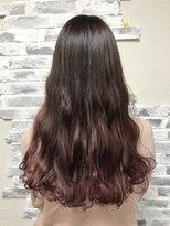 ポッシュ 原宿店(HAIR&MAKE POSH)ピンクバイオレットグラデーション