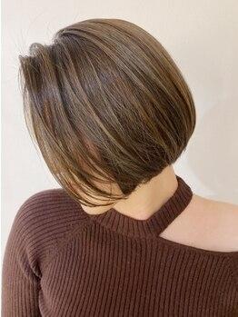 ヘアエステ ハート 池袋東口店(Hair esthe HAAAT)の写真/乾かすだけでスタイルが決まる絶妙なカット技術!再現性が高く、忙しい朝も時短スタイリングが可能です♪