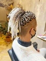 【メンズブレイズヘア】ホワイト50本