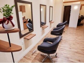 リップル(hair salon Ripple)の写真/完全マンツーマンで至福のリラックスタイム♪《高技術×真心》でもってお出迎え♪待ち時間が少ないのも◎