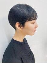 テトヘアー(teto hair)黒髪 暗髪 個性的 ショート 丸みボブ スリークボブ ayame