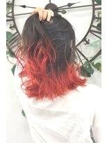 ヘアーサロン エール 原宿(hair salon ailes)(ailes 原宿)style380 グラデーション☆ルージュレッド