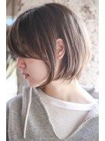 【+~ing 】natural short のサイドシルエット【柳沼くるみ】